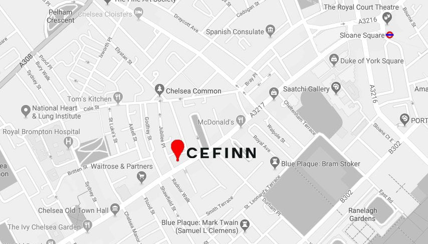 Cefinn 156 Kings Road Map