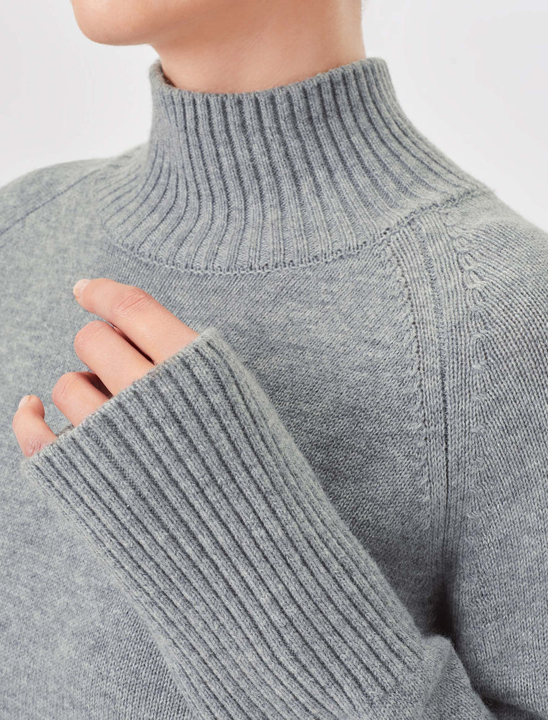 grey marl jumper