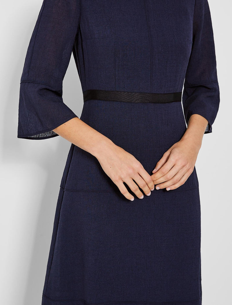 Tyler Tiered A-Line Maxi Dress - Navy