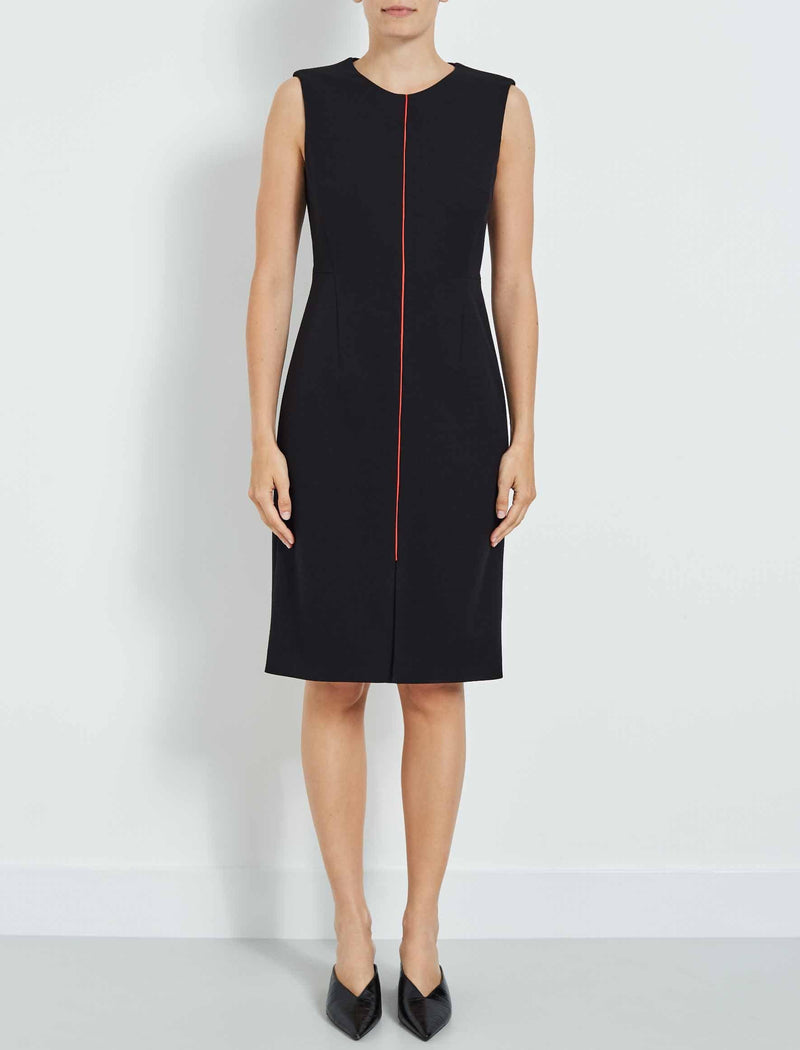edie sleeveless pencil dress black