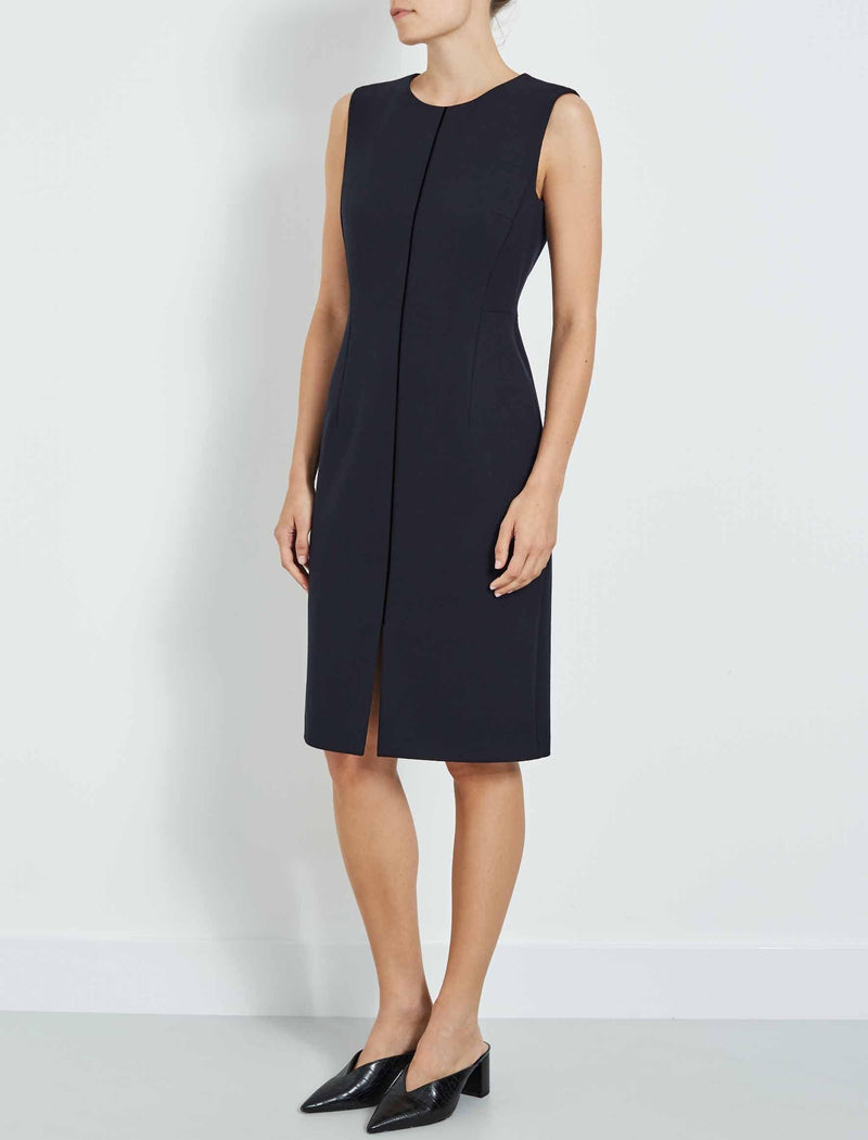 sleeveless dress navy