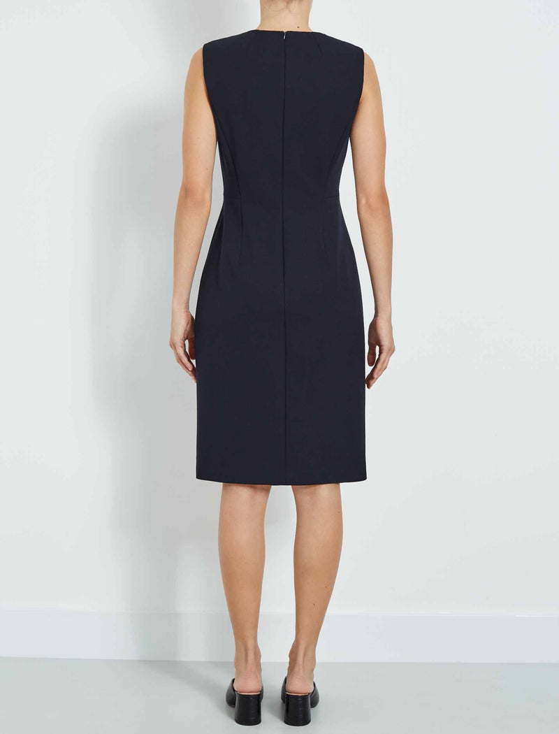 Edie Sleeveless Pencil Dress - Navy