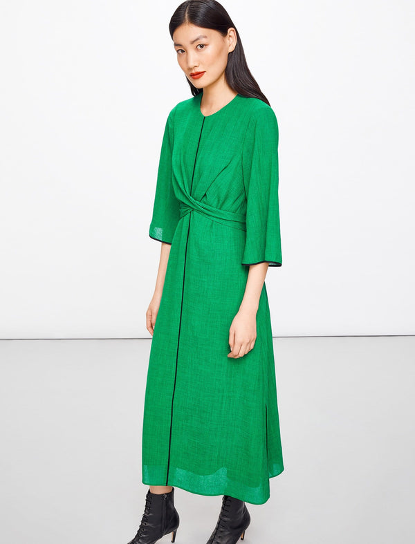 Yasmin Maxi Cross Over Dress - Emerald Green