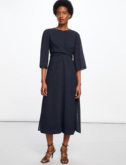 Yasmin Maxi Cross Over Dress - Navy