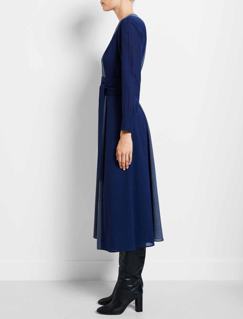 cobalt blue dress with sleeves
