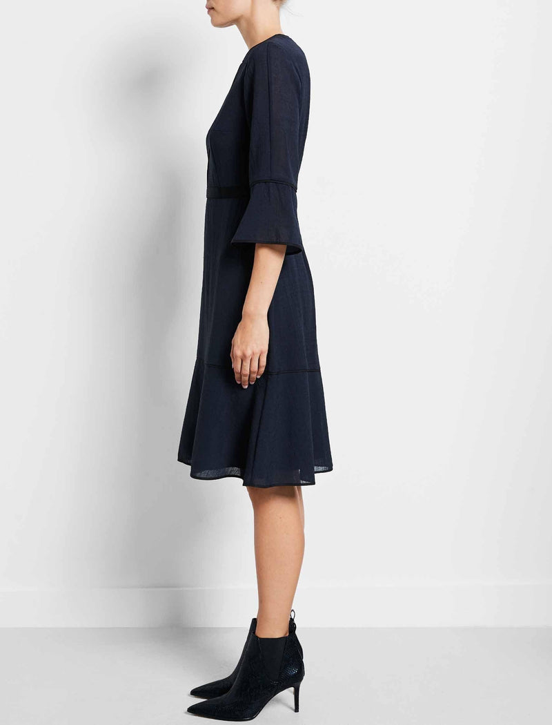 Tyler Tiered A-Line Dress - Navy