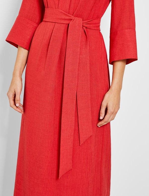 Ada Funnel Neck Maxi Dress - Crimson