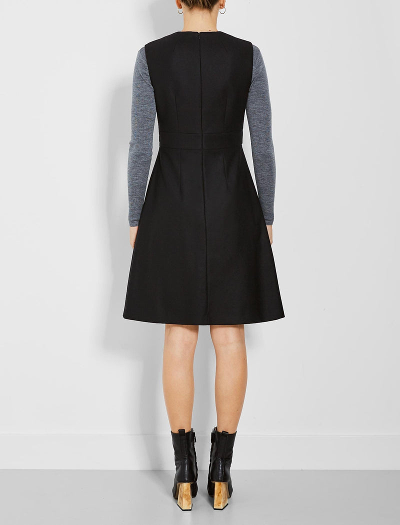 Blake Sleeveless A-Line Dress - Black