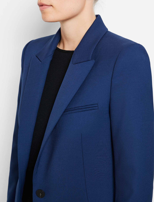 Jamie Stretch Wool Blend Blazer - Cobalt