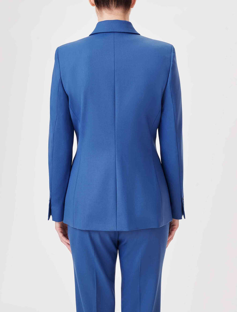 Jamie Stretch Wool Blend Blazer - Cornflower Blue