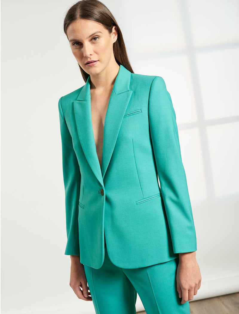 Jamie Stretch Wool Blend Blazer  - Mint Green