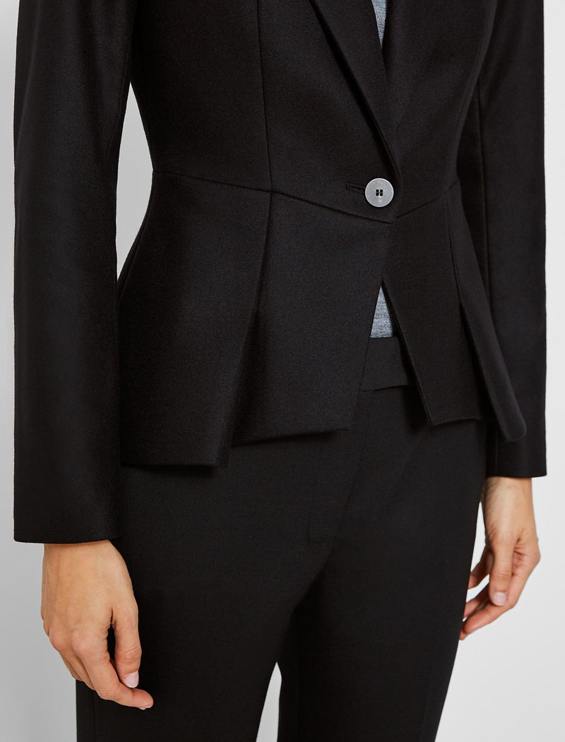 black wool peplum jackets