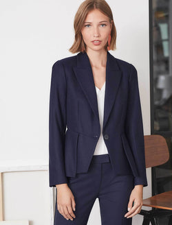 navy peplum jacket
