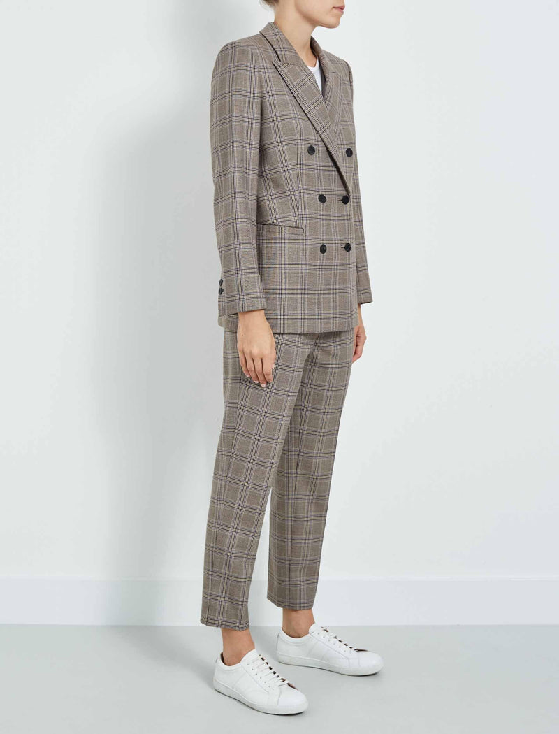 Checked Double Breasted Blazer
