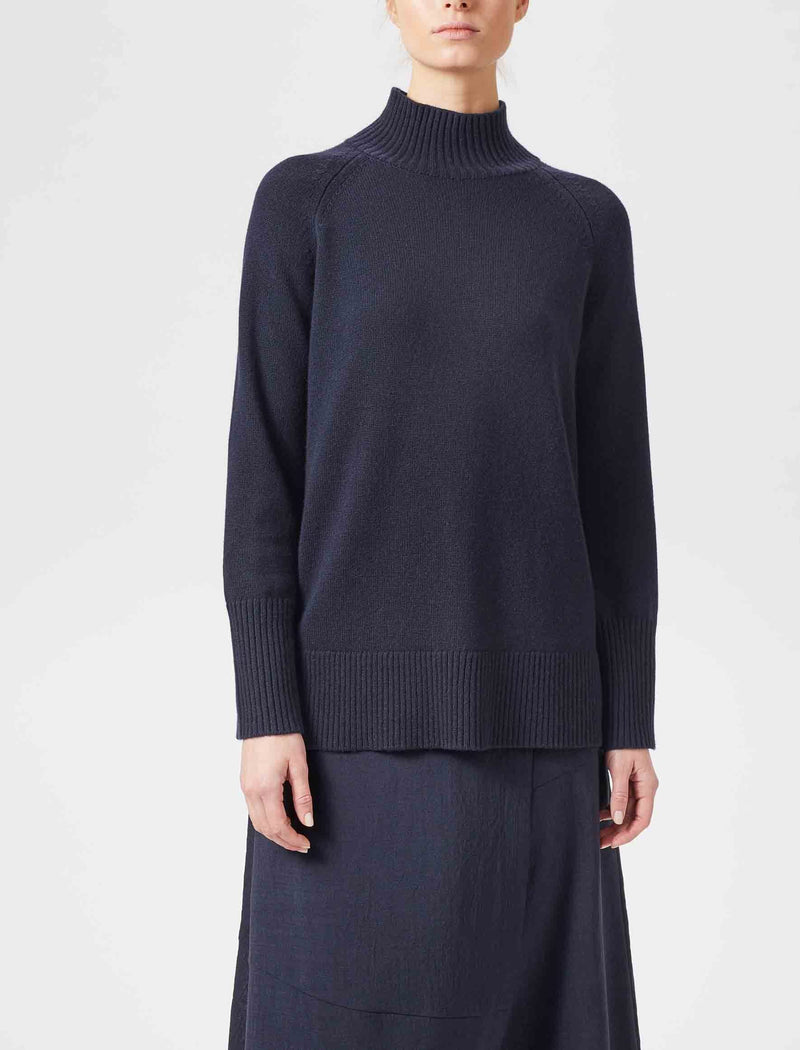 Jemima Turtleneck Jumper - Navy