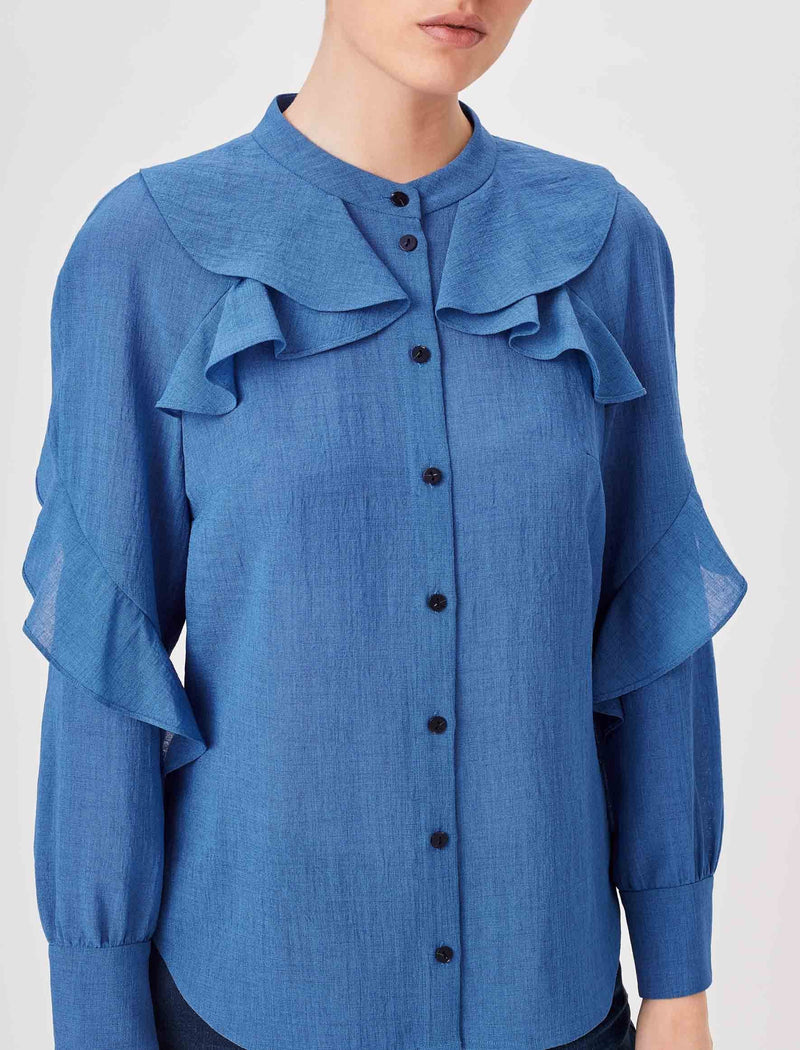 cornflower blue top