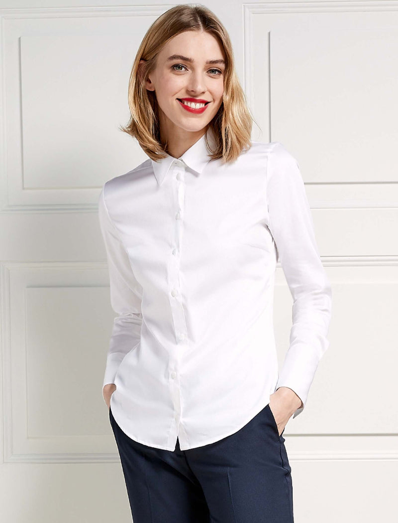 Women's Stretch Fit White Shirt