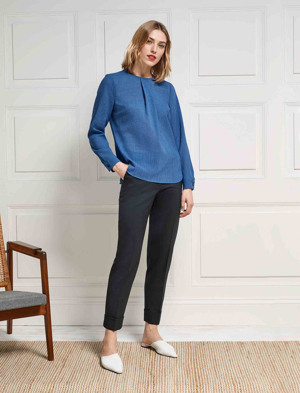 Cornflower Blue Blouse