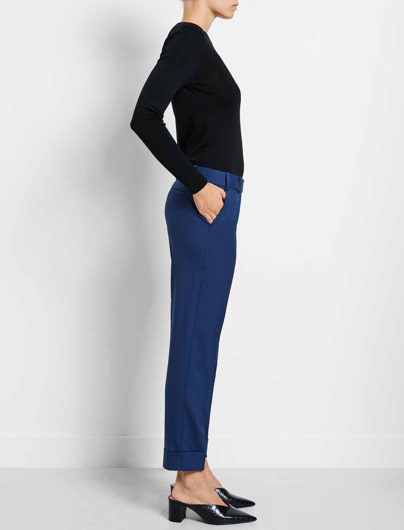 designer wool turn up trousers workwear womens