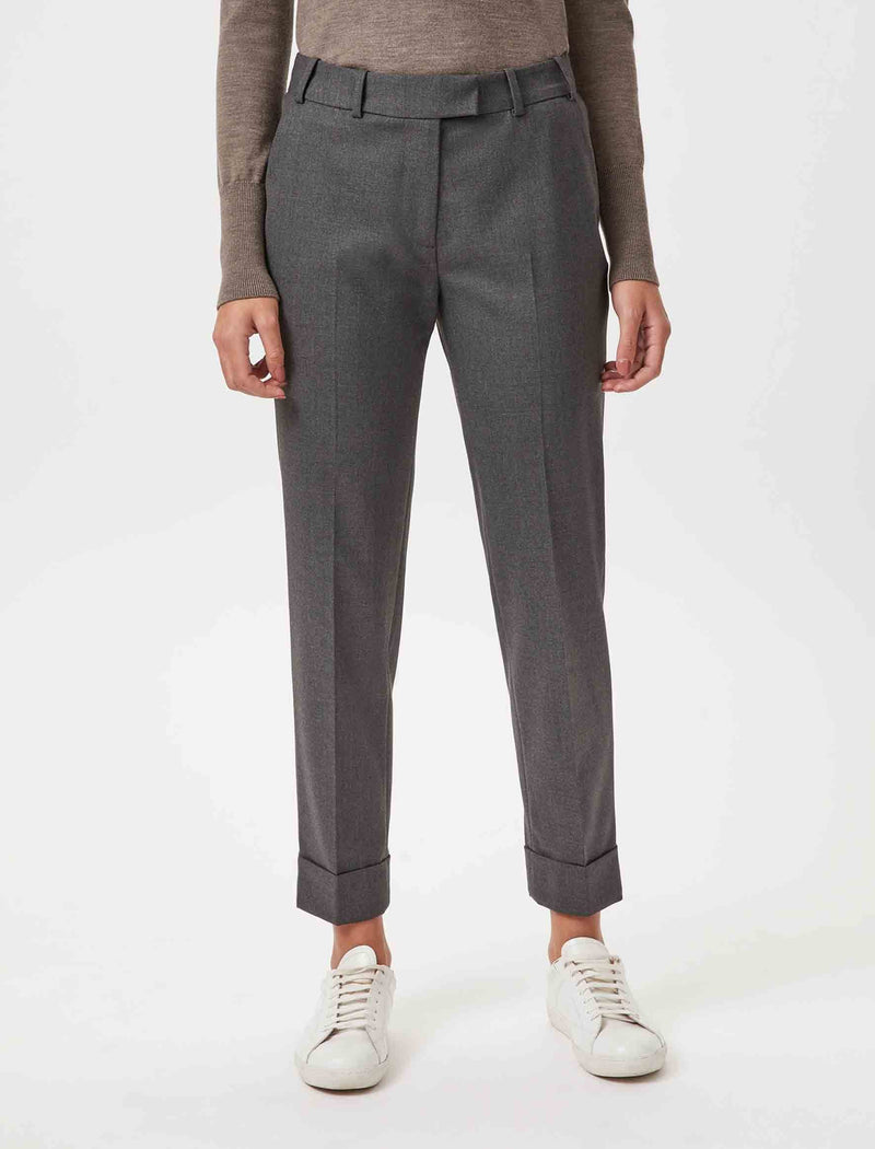 wool blend trousers grey