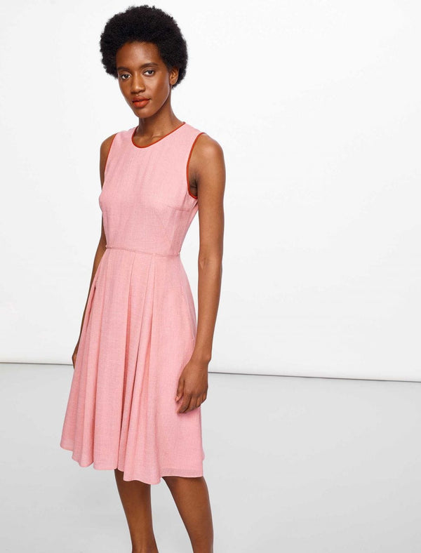 Sadie Sleeveless Knee Length Dress - Blush