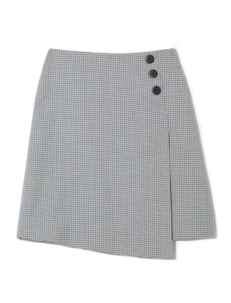 grey wool skirt a line