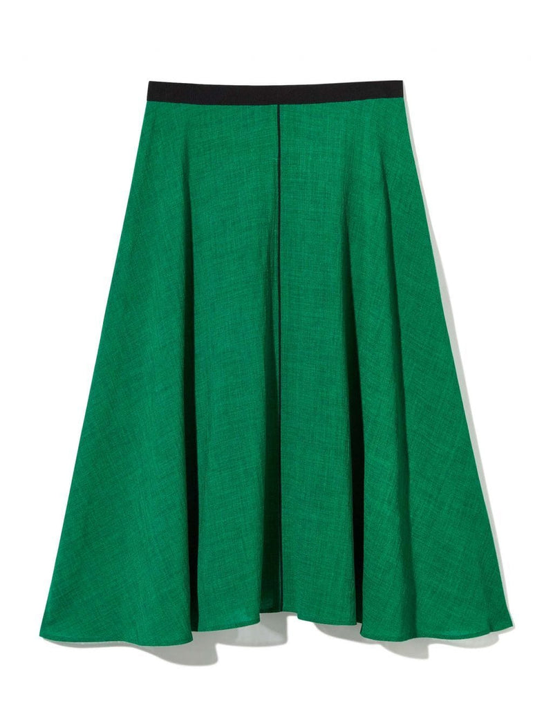 green a-line skirts