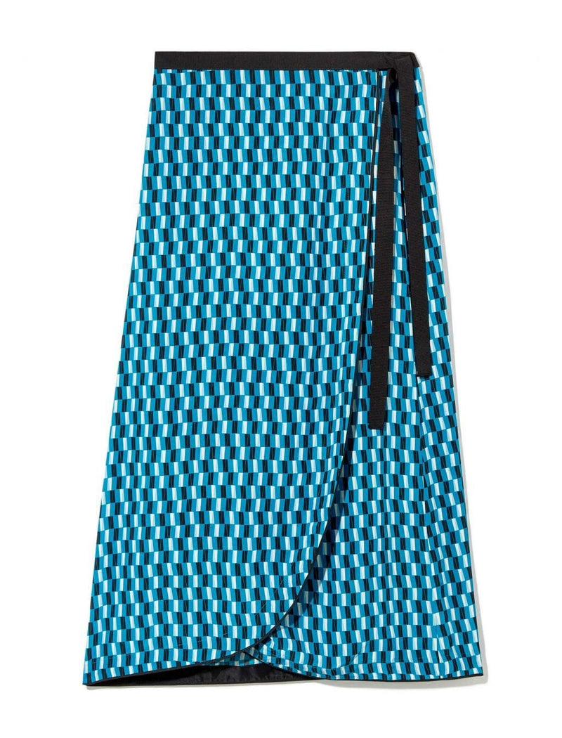 wrap skirt turquoise