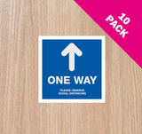 DOOR STICKERS - 'One Way' PACK OF 10