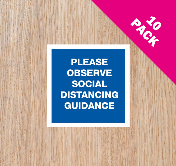 DOOR STICKERS - 'Observe' PACK OF 10