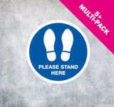 PAVEMENT  EXTERNAL FLOOR STICKERS 'FOOT PRINTS MULTI-PACK 5+