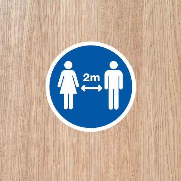DOOR STICKERS - '2m APART' SINGLES