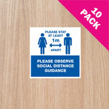 DOOR STICKERS - '1m+ IN OPERATION' PACK OF 10