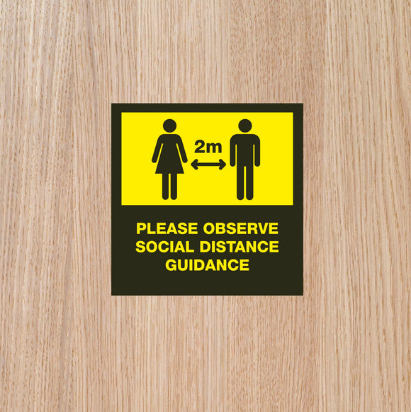 DOOR STICKERS - '2m IN OPERATION' SINGLES