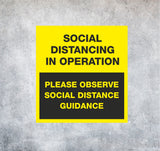 WALL STICKERS - 'In Operation', Social Distancing Stickers - We Print