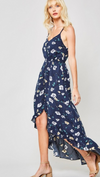 Floral High Low Dress with Ruffle