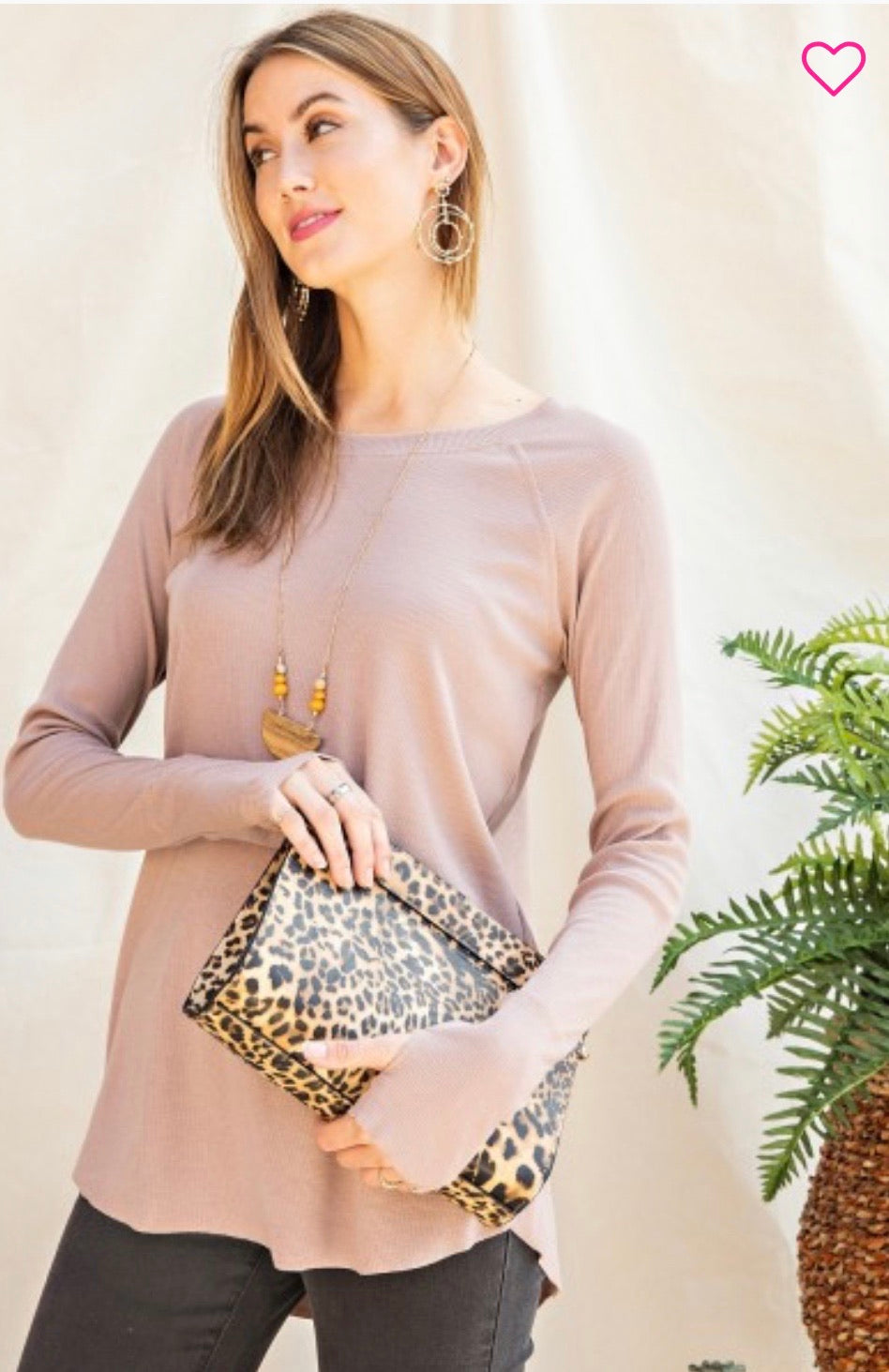 Rib Knit Tunic Top