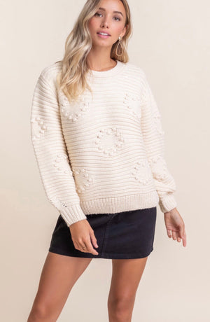 Pom Heart Sweater