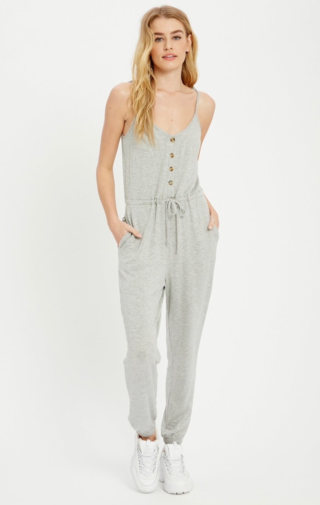 Casual Knit Jumpsuit