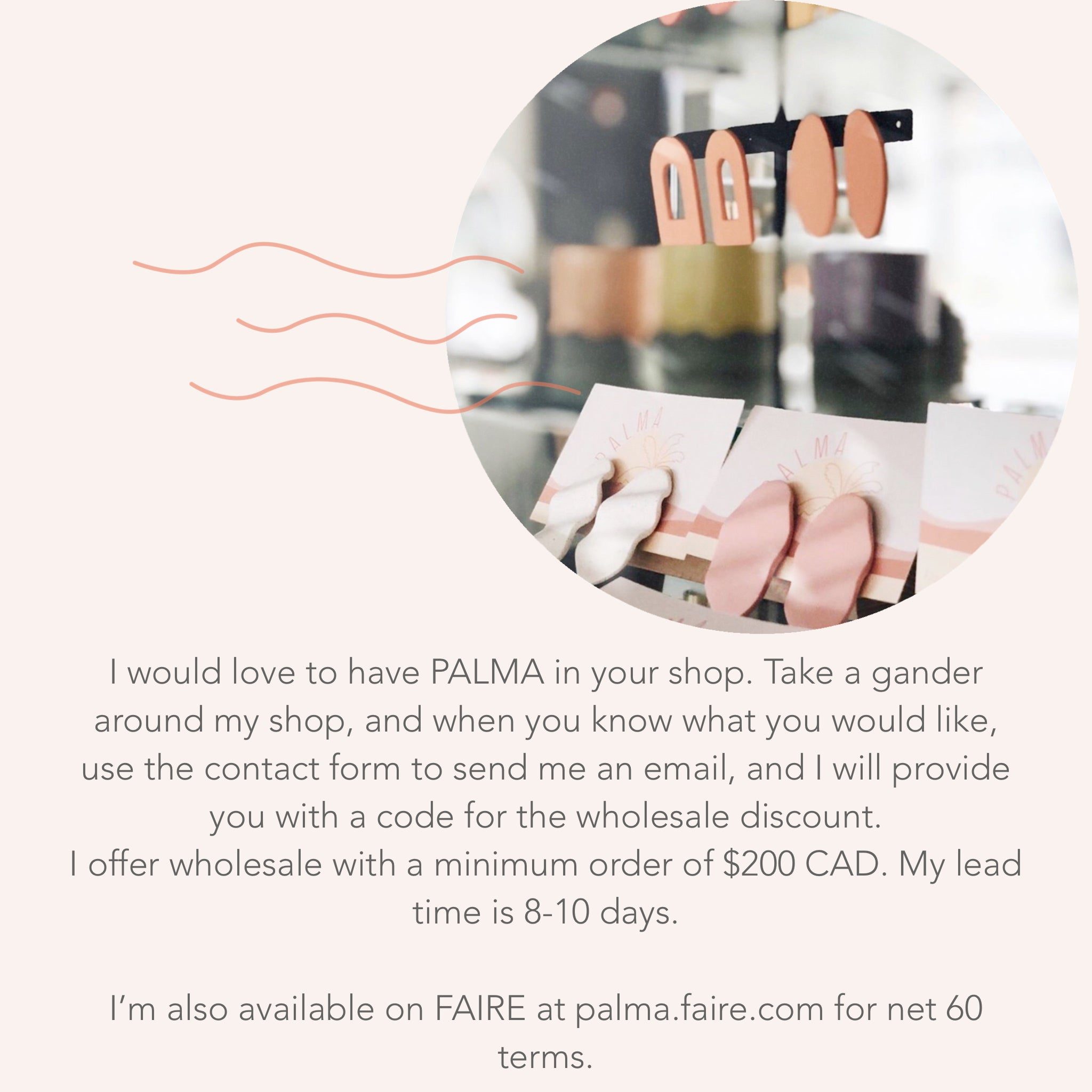 wholesale inquiry information for PALMA