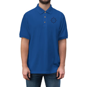 Cowboy Dressage Men's Jersey Polo Shirt