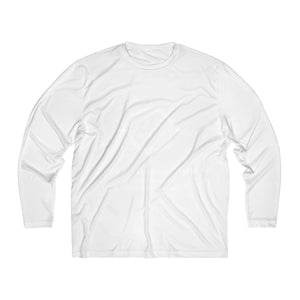 Cowbpoy Dressage World Men's Long Sleeve Moisture Absorbing Tee - Back Print