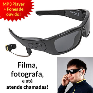 Óculos de Sol Digital (foto, vídeo, headset, bluetooth, MP3 Player)