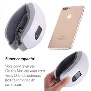 Óculos Massageador Ocular Antirrugas Wireless (com música)