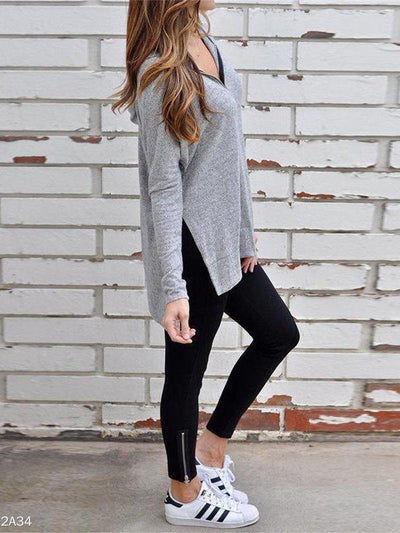 Zipped Cotton Hoodie Long Sleeve Coats
