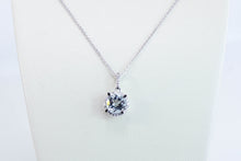 Load image into Gallery viewer, Aquamarine Diamond Necklace