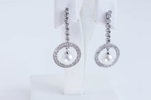 Load image into Gallery viewer, Diamond Pearl Earrings