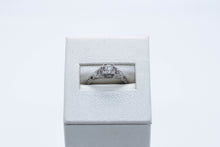 Load image into Gallery viewer, Platinum Antique Engagement Ring