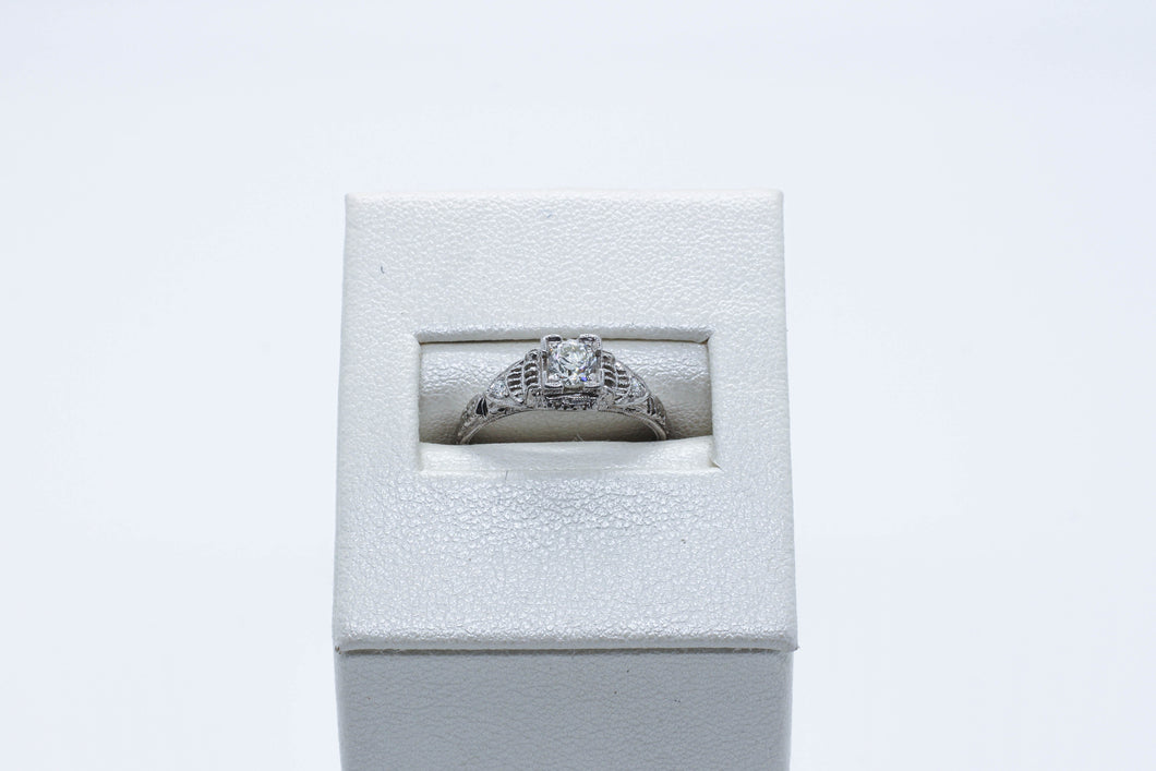 Platinum Antique Engagement Ring
