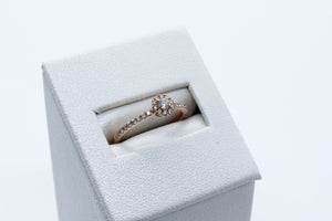 18k Rose Gold Diamond Engagement Ring